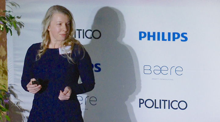 Megan at the 2019 Politico Summit in Amsterdam